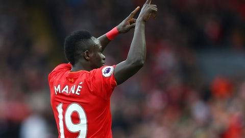 Right midfielder: Sadio Mane