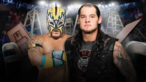 Kalisto vs. Baron Corbin in a chairs match