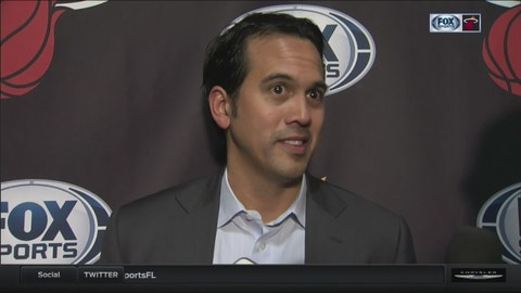 Erik Spoelstra: Both teams laid it on the line tonight