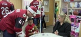 Coyotes pay inspirational visit to Phoenix Children's Hospital