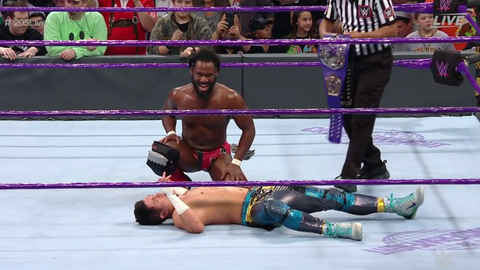 Rich Swann defeated TJ Perkins and The Brian Kendrick to retain the Cruiserweight Championship