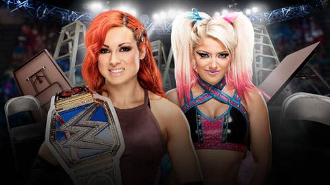 Becky Lynch vs. Alexa Bliss in a tables match for the WWE SmackDown Women's Championship