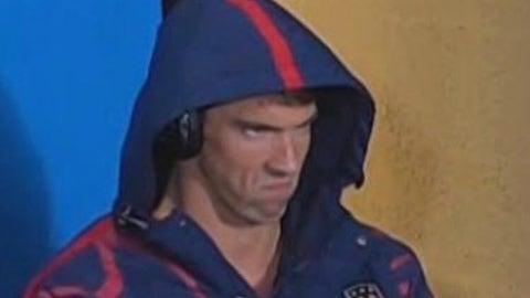 Angry Michael Phelps