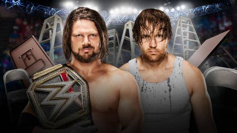 AJ Styles vs. Dean Ambrose in a TLC match for the WWE World Championship