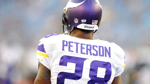 Adrian Peterson, RB, Vikings (knee/groin): Out