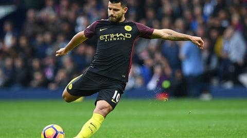 8. Sergio Aguero, Manchester City