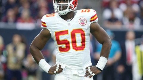 Justin Houston, DE, Chiefs (knee): Out