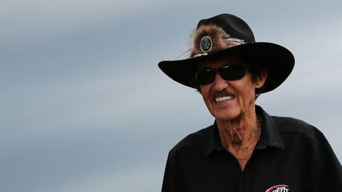 Aug 27, 2016; Brooklyn, MI, USA; NASCAR team owner Richard Petty walks through the garage during practice for the Pure Michigan 400 at Michigan International Speedway. Mandatory Credit: Aaron Doster-USA TODAY Sports