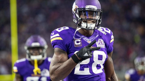 Adrian Peterson, RB, Vikings (groin): Out