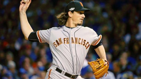 Samardzija strikes out 11