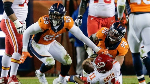 Defensive Player of the Year: 1. Von Miller, Broncos
