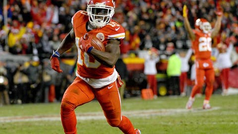 Dec 8, 2016; Kansas City, MO, USA; Kansas City Chiefs wide receiver Tyreek Hill (10) returns a punt for a touchdown during the first half against the Oakland Raiders at Arrowhead Stadium. Mandatory Credit: Denny Medley-USA TODAY Sports