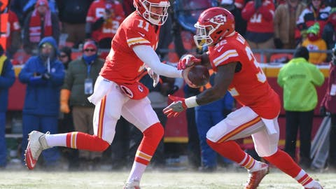 Spencer Ware, RB, Chiefs (rib): Questionable