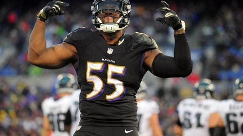 OLB Terrell Suggs, Ravens: 14 years