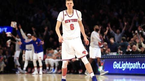 New York Knicks: Kristaps Porzingis getting to play center full-time