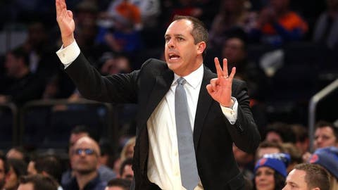Dec 22, 2016; New York, NY, USA; Orlando Magic head coach Frank Vogel coaches against the New York Knicks during the third quarter at Madison Square Garden. Mandatory Credit: Brad Penner-USA TODAY Sports