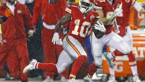 Tyreek Hill got heavily involved in the offense