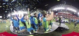 Seattle Sounders lift the trophy in 360°