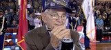 WW2 Vet wows crowd as he delivers National Anthem on Harmonica