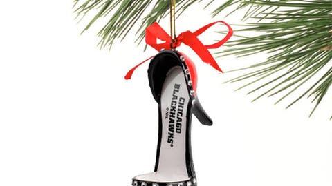 Chicago Blackhawks High Heel Shoe Ornament
