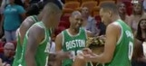 Celtics played rock-paper-scissors to see who would shoot a late-game free throw