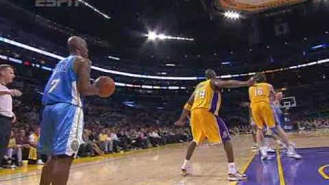 Throwing a ball off someone's back during an inbounds play