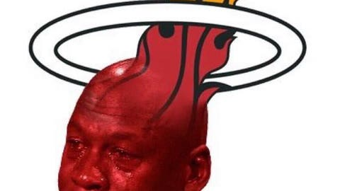 Dwyane Wade leaves the Heat