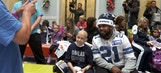 The Cowboys visit children's hospitals for the holidays