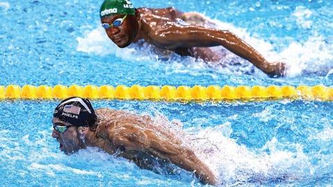 Michael Phelps makes Chad Le Clos Chad Le Cry