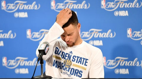 Stephen Curry was searching for answers after his Game 7 Finals loss to the Cavs