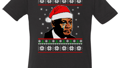 The Crying Jordan Christmas sweater