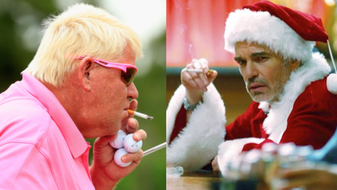 "John Daly and Willie T. Soke from ""Bad Santa"""