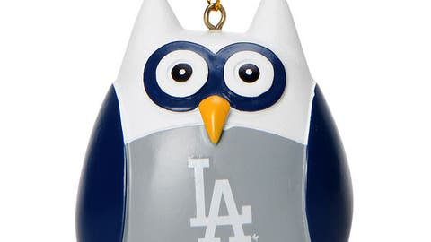 Dodgers Owl Ornament