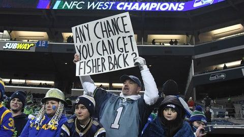 A Seattle Seahawks fan -- after the Rams axed Jeff Fisher