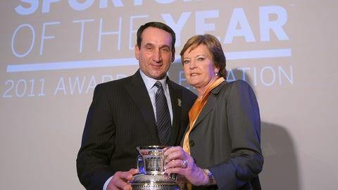 2011 -- Mike Krzyzewski and Pat Summitt