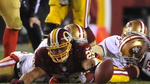 October 15: San Francisco 49ers at Washington Redskins, 1 p.m. ET