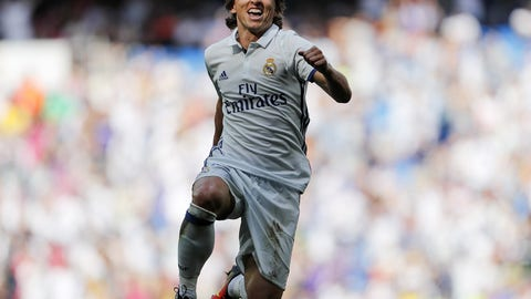 Center midfield: Luka Modric, Real Madrid