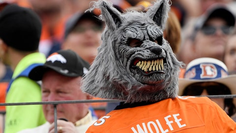Imagine turning to see this Derek Wolfe fan at a stadium urinal