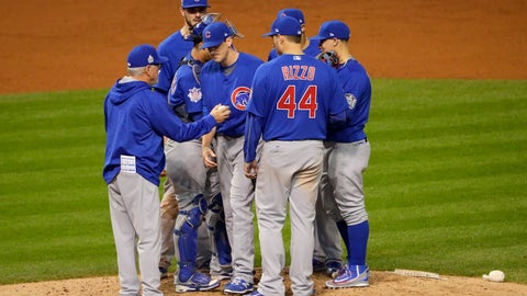 Joe Maddon shall resolve to leave Kyle Hendricks in a World Series game...