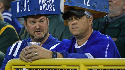 Packers fans inspired a cheesy counterpart during a game against the Colts