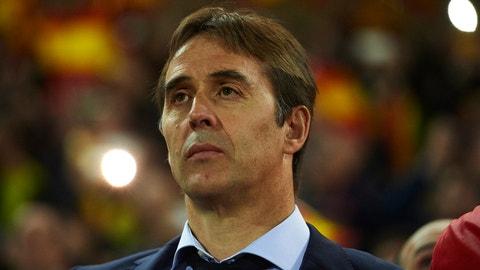 Spain manager: Julen Lopetegui