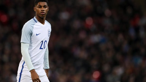Striker: Marcus Rashford