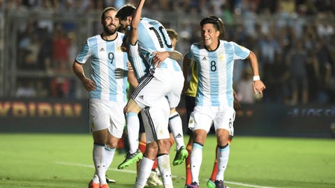 Argentina: 1 (Previously No. 1)