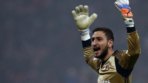 Goalkeeper: Gianluigi Donnarumma