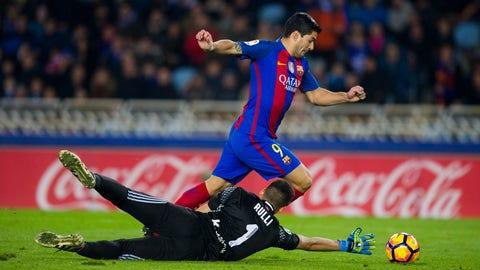 Forward: Luis Suarez (Barcelona)