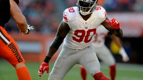 Jason Pierre-Paul, DE, Giants (groin)