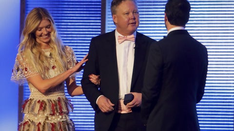 Brian France and the Johnsons