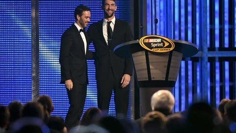 Michael Phelps and Jimmie Johnson
