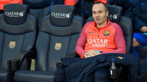 Barcelona still really need Andres Iniesta