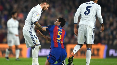 Real Madrid struggled to limit Sergio Busquets